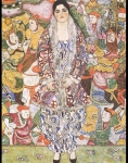 Gustav Klimt (July 14, 1862  February 6, 1918) Friederike Maria Bbeer Oil on canvas, 1916 168 &amp;#215; 130 cm (66.1 &amp;#215; 51.2 in) Tel Aviv Museum of Art