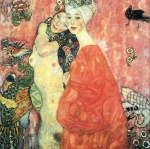 Gustav Klimt (July 14, 1862 � February 6, 1918) The Girl-Friends Oil on canvas, 1917 99 × 99 cm (39 × 39 in) Destroyed Vienna