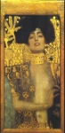 Gustav Klimt (July 14, 1862 � February 6, 1918) Judith I Oil, gold and platinum on canvas, 1901 84 × 42 cm The Österreichische Galerie Belvedere, Belvedere palace, Vienna, Austria