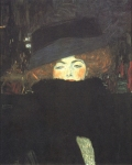 Gustav Klimt (July 14, 1862 � February 6, 1918) Lady with Hat and Feather Boa Oil on canvas, 1909 69 × 55 cm The Österreichische Galerie Belvedere, Belvedere palace, Vienna, Austria