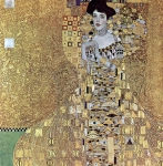 Gustav Klimt (July 14, 1862 � February 6, 1918) Portrait of Adele Bloch-Bauer I Oil, silver, and gold on canvas, 1907 138 cm × 138 cm (54 in × 54 in) The Neue Galerie New York, United States