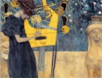 Gustav Klimt (July 14, 1862 � February 6, 1918) Music I Oil on canvas, 1895 37 x 44,5 cm The Neue Pinakothek (New Pinakothek) , Munich, Germany