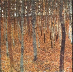 Gustav Klimt (July 14, 1862  February 6, 1918) Beech Forest I Oil on canvas, 1902 100 &amp;#215; 100 cm New Masters Gallery, Dresden