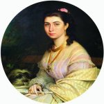 Ivan Nikolaevich Kramskoi (1837 - 1887)   Portrait of a Woman  Oil on canvas, 1867  State Museum of Arts A. Kasteev, Almaty, Kazakhstan