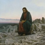 Ivan Nikolaevich Kramskoi  (1837 - 1887)   Christ in the desert  Oil on canvas, 1872   180 x 210 cm  The State Tretyakov Gallery, Moscow, Russia