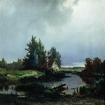 Lev Lvovich Kamenev (1832-1886)  Before thunderstorm, 1869  Oil on canvas  43 x 62 cm  Private collection