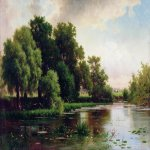 Lev Lvovich Kamenev (1832-1886)  Landscape with a pond, 1884  Oil on canvas  50 x 89 cm   Chelyabinsk Region Picture Gallery, Russia