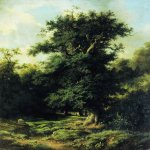 Lev Lvovich Kamenev (1832-1886)  Old oak, 1859  Oil on canvas  National Art Museum of Latvia