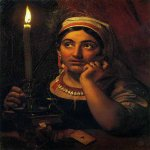 Orest Adamovich Kiprenskii (1778-1836)  Fortune-teller with a candle  Oil on canvas, 1830  64 x 51 cm  The State Russian Museum, St. Petersburg, Russia