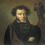 Orest Adamovich Kiprenskii (1778-1836)  Alexander Pushkin  Oil on canvas, 1827  63Г•54 cm  The Tretyakov Gallery in Moscow, Russia