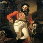 Orest Adamovich Kiprenskii (1778-1836)  Portrait of Yevgraf Davydov  Oil on canvas, 1809  162�116 cm  The State Russian Museum, St. Petersburg, Russia