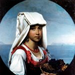 Orest Adamovich Kiprenskii (1778-1836)  Neapolitan girl with fruit  Oil on canvas, 1831  The National Art Museum of Moldova, Republica Moldova