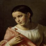 Orest Adamovich Kiprenskii (1778-1836)  Poor Lisa  Oil on canvas, 1827  45 х 39 cm  The Tretyakov Gallery in Moscow, Russia