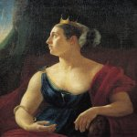 Orest Adamovich Kiprenskii (1778-1836)  Portrait of Catherine Semenovna Semyonova as Cleopatra, ?  Oil on canvas  The Museum of V.A. Tropinin in Moscow, Russia