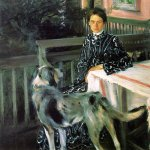 Boris Mikhaylovich Kustodiev (1878�1927)  Portrait of Julia Kustodieva, nee Proshinskaya (1880-1942), the Artist's Wife  Oil on canvas, 1903  139x133.5 cm  The Russian Museum, St. Petersburg, Russia