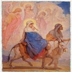 Nikolaj Andreevich  Koshelev (1840-1918)   Flight into Egypt  Sketch for a mosaic in the Church of the Resurrection (Savior on Spilled Blood)  Oil on canvas, 1890-s  97 х 70  cm  The Russian Museum, St. Petersburg, Russia
