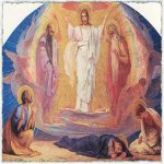 Nikolaj Andreevich  Koshelev (1840-1918)   Transfiguration  Sketch for a mosaic in the Church of the Resurrection (Savior on Spilled Blood)  Oil on canvas, 1890-s  120 � 205  cm  The Russian Museum, St. Petersburg, Russia