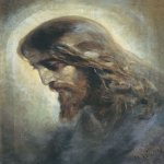 Nikolaj Andreevich  Koshelev (1840-1918)   Head of Christ  Private collection