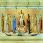 Nikolaj Andreevich  Koshelev (1840-1918)   The Seven Sacraments of the Church  Sketch mural in the church of Christ the Savior  Oil on canvas  40 x 75 cm  The Nizhny Novgorod Art Museum, Nizhny Novgorod, Russia