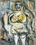 Willem de Kooning (April 24, 1904 – March 19, 1997) Woman III Oil on canvas, 1953 172.7 cm × 123.2 cm (68 in × 48.5 in) Private collection of Steven A. Cohen