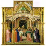 Ambrogio Lorenzetti (Siena, about 1290 - Siena, 1348)  Presentation in the Temple  Wood, 1342  257 × 168 cm  Galleria degli Uffizi, Siena, Italy