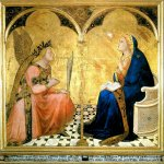 Ambrogio Lorenzetti (Siena, about 1290 - Siena, 1348)  Annunciation  Wood, 1344