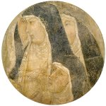 Ambrogio Lorenzetti (Siena, about 1290 - Siena, 1348)  Group of Poor Clares  Fresco (detached), about 1329  58.5 x 52 cm  National Gallery, Siena, London