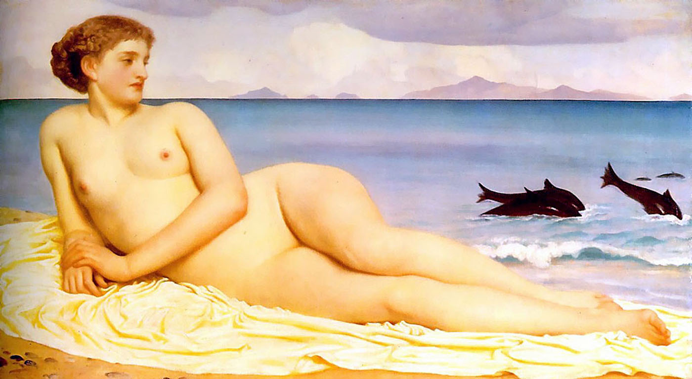 Lord Frederick Leighton (1830-1896) Actaea, the Nymph of the Shore Oil on canvas, c1868 102.2 x 57.2 cm (3' 4.24