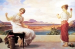 """Lord Frederick Leighton (1830-1896) Winding the Skein Oil on canvas, c1878 161.3 x 100.3 cm (5\' 3½\"""" x 3\' 3.49\"""") Art Gallery of New South Wales (Sydney, Australia)"""