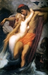 Lord Frederick Leighton (1830-1896) The Fisherman and the Syren Oil on canvas, c1856-c1858 48.7 x 66.3 cm (19.17