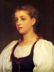 Lord Frederick Leighton (1830-1896) Biondina Oil on canvas, 1879 41.3 x 52.1 cm (16.26