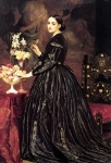 "Lord Frederick Leighton (1830-1896) Mrs James Guthrie Oil on canvas, c1864-c1866 138.5 x 210.7 cm (4\' 6.53"" x 6\' 10.95\"") Yale Centre for British Art (New Haven, Connecticut, United States)"