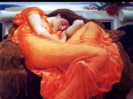 Lord Frederick Leighton (1830-1896) Flaming June Oil on canvas, c1895 120.6 x 120.6 cm (3' 11.48