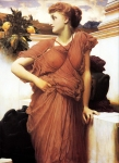 Lord Frederick Leighton (1830-1896) At the Fountain Oil on canvas, c1892 95.3 x 127.6 cm (3' 1.52