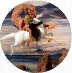 Lord Frederick Leighton (1830-1896) Perseus on Pegasus Hastening to the Rescue of Andromeda Oil on canvas, c1895-c1896 Leicesetershire Museums, Arts and Records Service