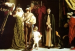 """Lord Frederick Leighton (1830-1896) Dante in Exile Oil on canvas, c1864 254 x 152.5 cm (8\' 4\"""" x 5\') Private collection"""
