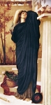 Lord Frederick Leighton (1830-1896) Electra at the Tomb of Agamemnon Oil on canvas, c1868-c1869 75.5 x 150 cm (29.72\&quot; x 4\&#039; 11.06\&quot;) Private collection