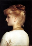 Lord Frederick Leighton (1830-1896) A Girl Oil on canvas Private collection