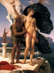 Lord Frederick Leighton (1830-1896) Daedalus and Icarus Oil on canvas, c1869 106.5 x 138.2 cm (3' 5.93