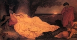 "Lord Frederick Leighton (1830-1896) Cymon and Iphigenia Oil on canvas, c1884 327.6 x 162.5 cm (10\' 8.98"" x 5\' 3.98\"") Art Gallery of New South Wales (Sydney, Australia)"