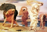 Lord Frederick Leighton (1830-1896) Greek Girls Picking up Pebbles by the Sea Oil on canvas, c1871 129.5 x 84 cm (4' 2.98