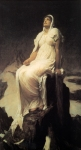 "Lord Frederick Leighton (1830-1896) The Spirit of the Summit Oil on canvas, c1894 101.6 x 198.1 cm (3\' 4"" x 6\' 5.99\"") Auckland City Art Gallery (Auckland, New Zealand)"