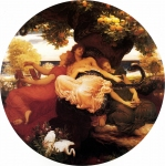 Lord Frederick Leighton (1830-1896) The Garden of the Hesperides Oil on canvas, c1892 169 x 169 cm (5' 6.54