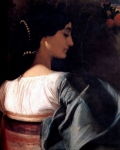 Lord Frederick Leighton (1830-1896) An Italian Lady Oil on canvas Private collection