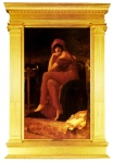 "Lord Frederick Leighton (1830-1896) Sibyl Oil on canvas 89.5 x 152 cm (35.24"" x 4\' 11.84\"") Private collection"