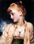 "Lord Frederick Leighton (1830-1896) Gulnihal Oil on canvas, c1886 43.8 x 36.5 cm (17.24"" x 14.37\"") Private collection"