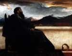 "Lord Frederick Leighton (1830-1896) David (at rest) Oil on fabric, 1865 122.5 x 96.5 cm (4\' .23"" x 3\' 1.99\"") Cleveland Museum of Art (Cleveland, Ohio, United States)"