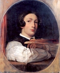 Lord Frederick Leighton (1830-1896) Selfportrait as a Boy Oil on canvas Private collection
