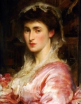 "Lord Frederick Leighton (1830-1896) Mrs Evans Gordon Oil on Canvas 53 x 43 cm (20.87"" x 16.93\"") Private collection"