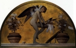 Lord Frederick Leighton (1830-1896) Cupid and Doves Oil on Canvas 128 x 212 cm (4' 2.39